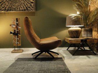 Luxe lederen fauteuil
