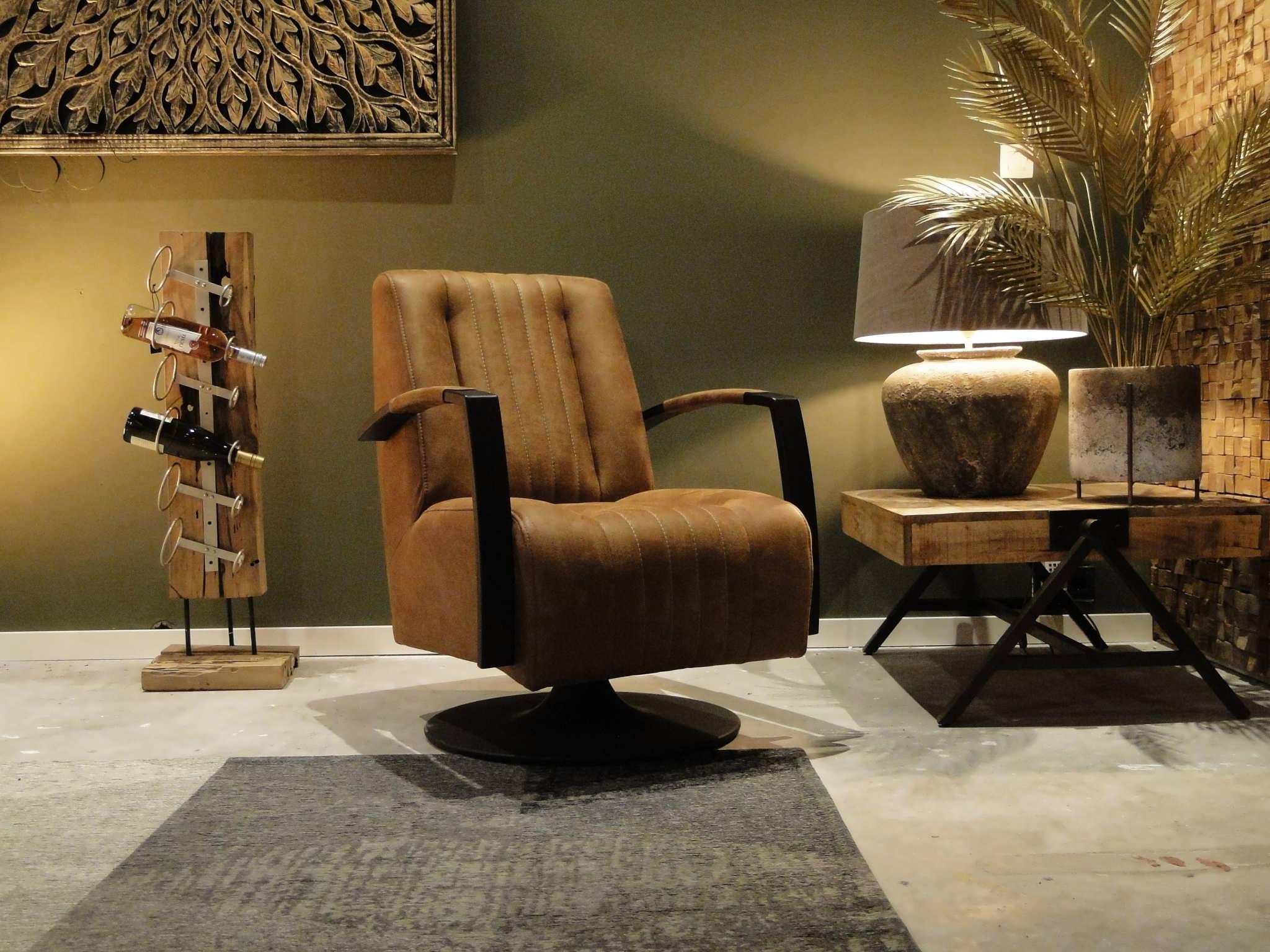 relaxstoel op draaivoet