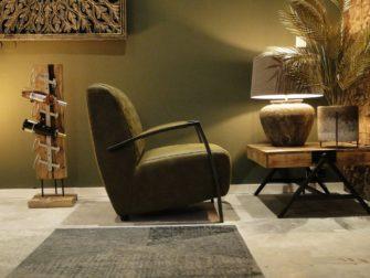 stoere groene relaxstoel