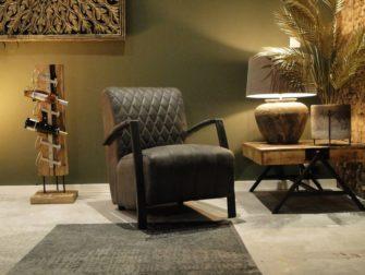 Antraciet industriele fauteuil