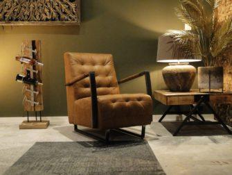 Camelkleurige relax fauteuil
