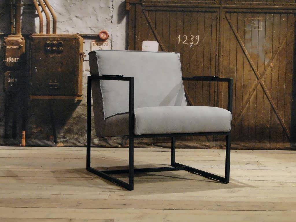 fauteuil pesara relax stof grijs