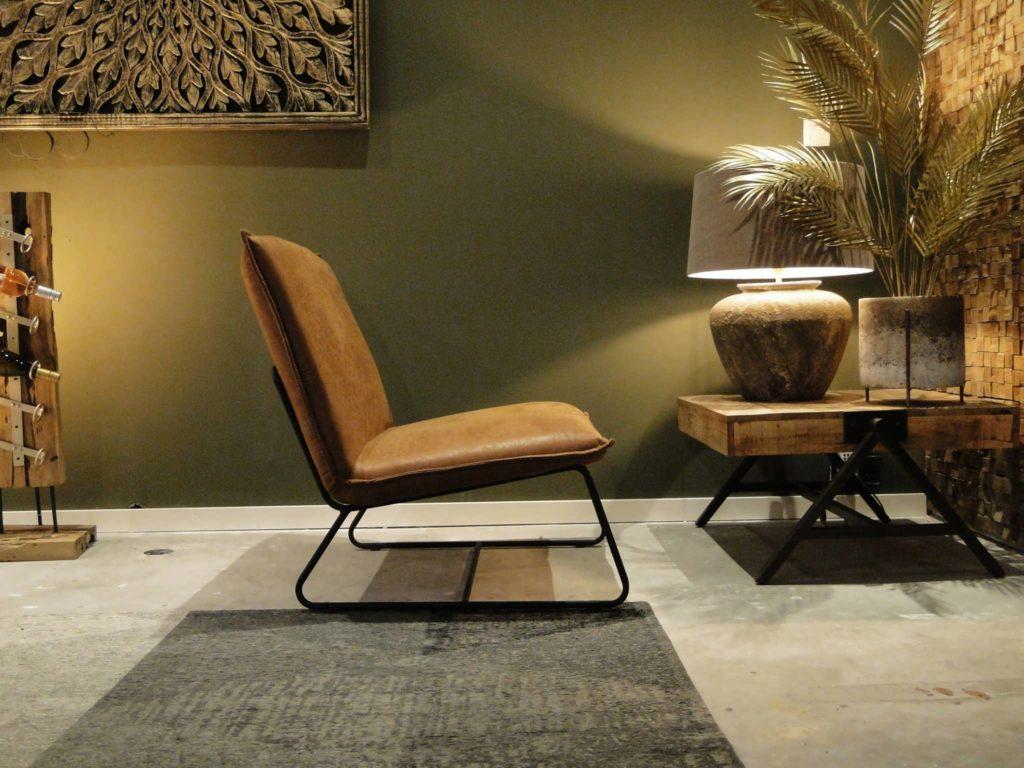 cognackleurige fauteuil