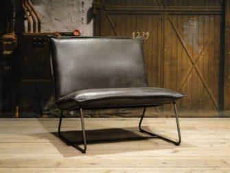 Stoere grijze fauteuil