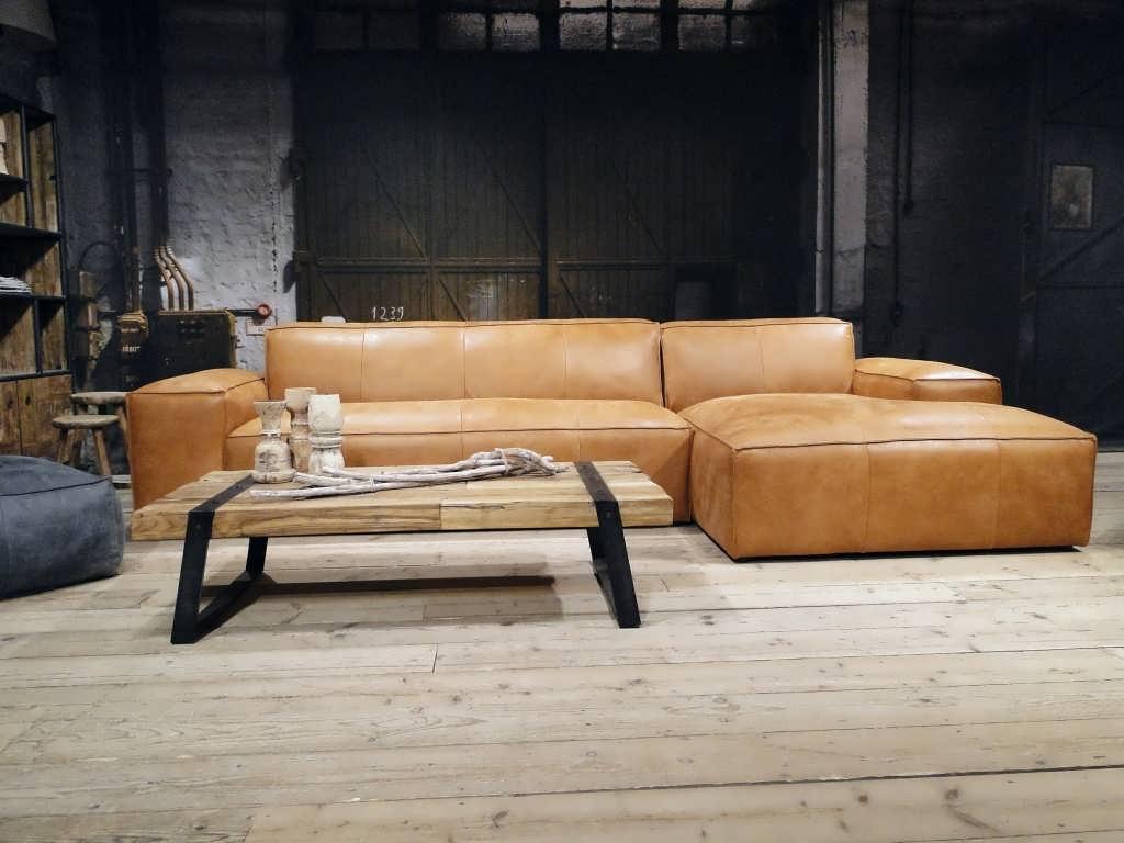 cognac bank chaise longue
