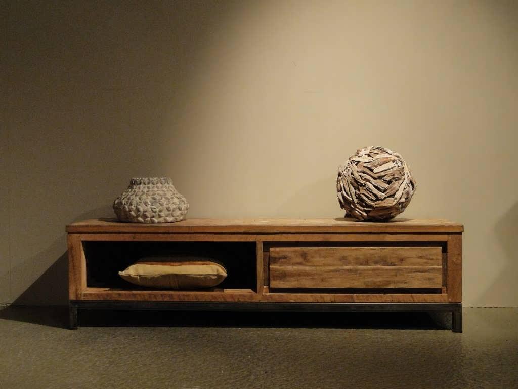 Tv Meubel Teakhout : Industrieel tv meubel avezzano robuustetafels