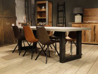 industriële betontafel u poot