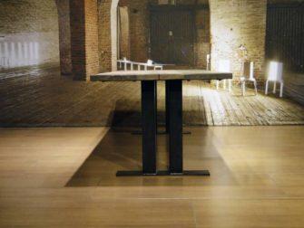 industriele eettafel alvaro - 240x100 dubbel gerookt witte olie