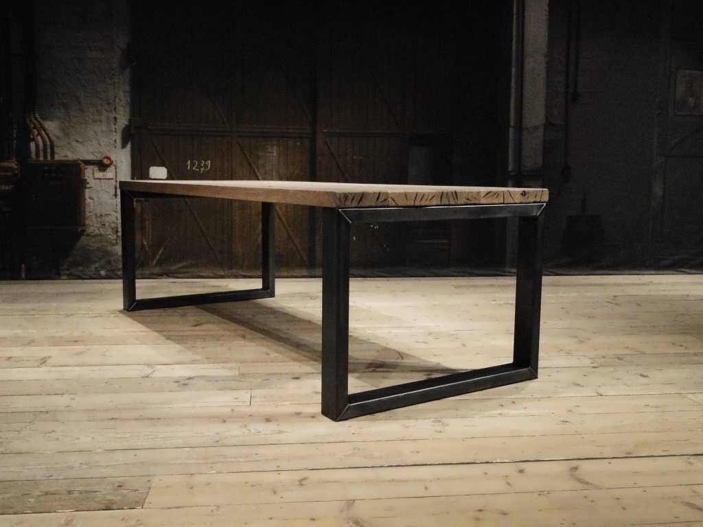 Industriele Tafel Onderstellen.Barasso Eettafel Volledig Configureerbaar Op Maat Robuustetafels Nl