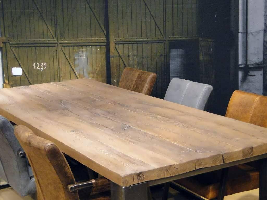 Gerookt Eiken Tafel : Eiken tafel imola op maat gemaakt robuustetafels.nl