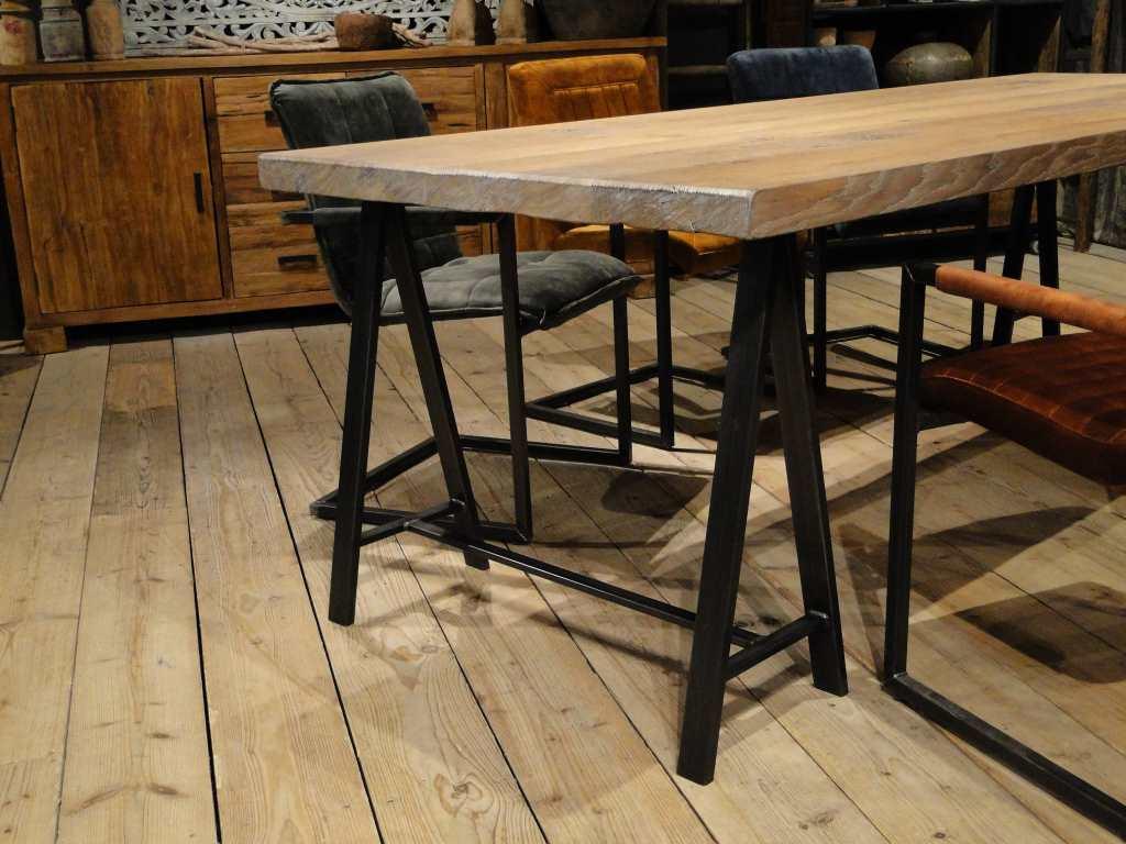 Tafel woood tafel steigerhout schragen diy long tables