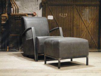 industriele fauteuil basil grijs