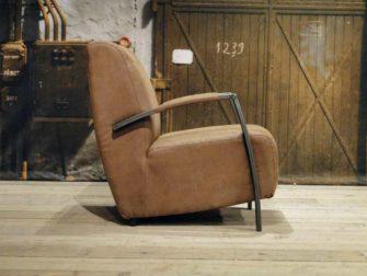 industriele fauteuil basil bruin