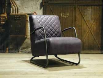 Fauteuil Cambrai ruit - relax stof purple