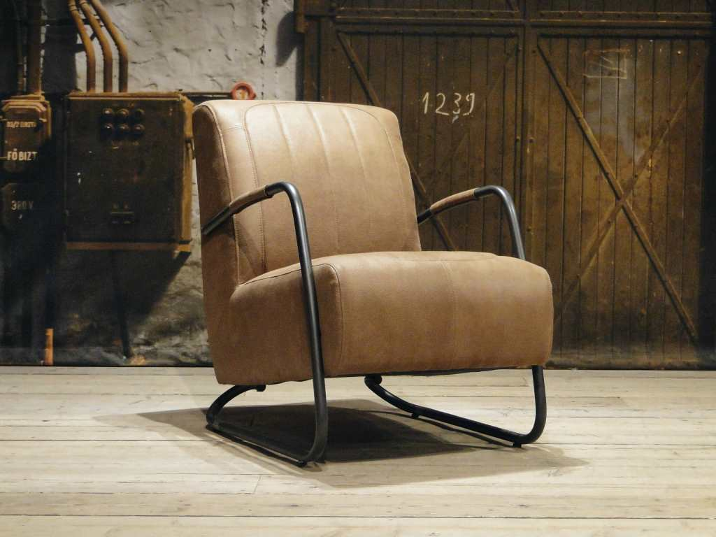 vintage Fauteuil Cambrai vertical - relax stof cinnamon