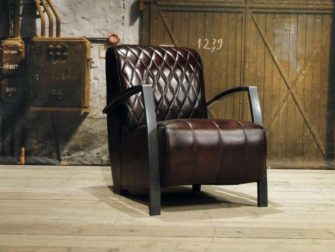 industriele fauteuil brown