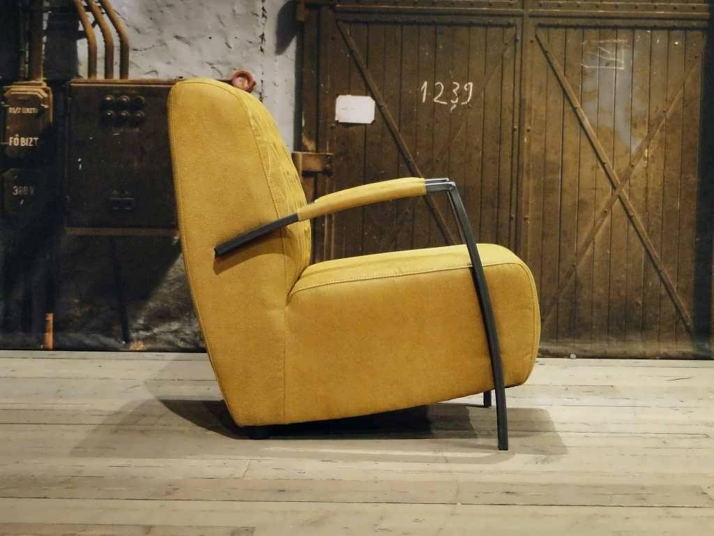 industriele fauteuil geel