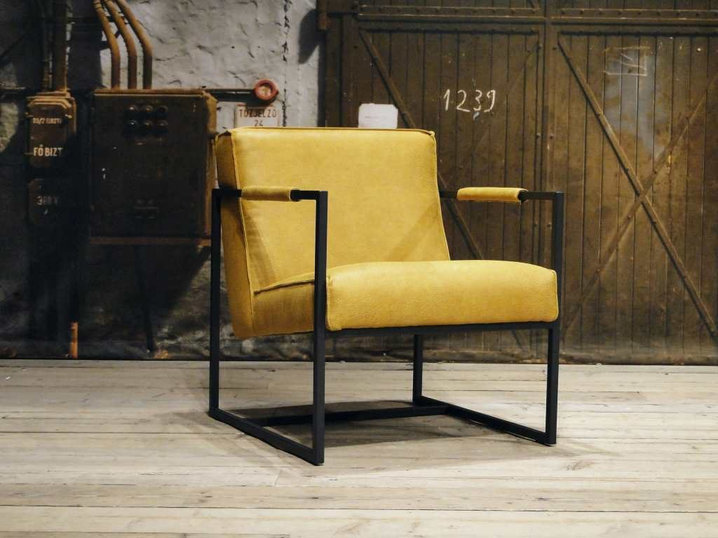 industriele gele fauteuil