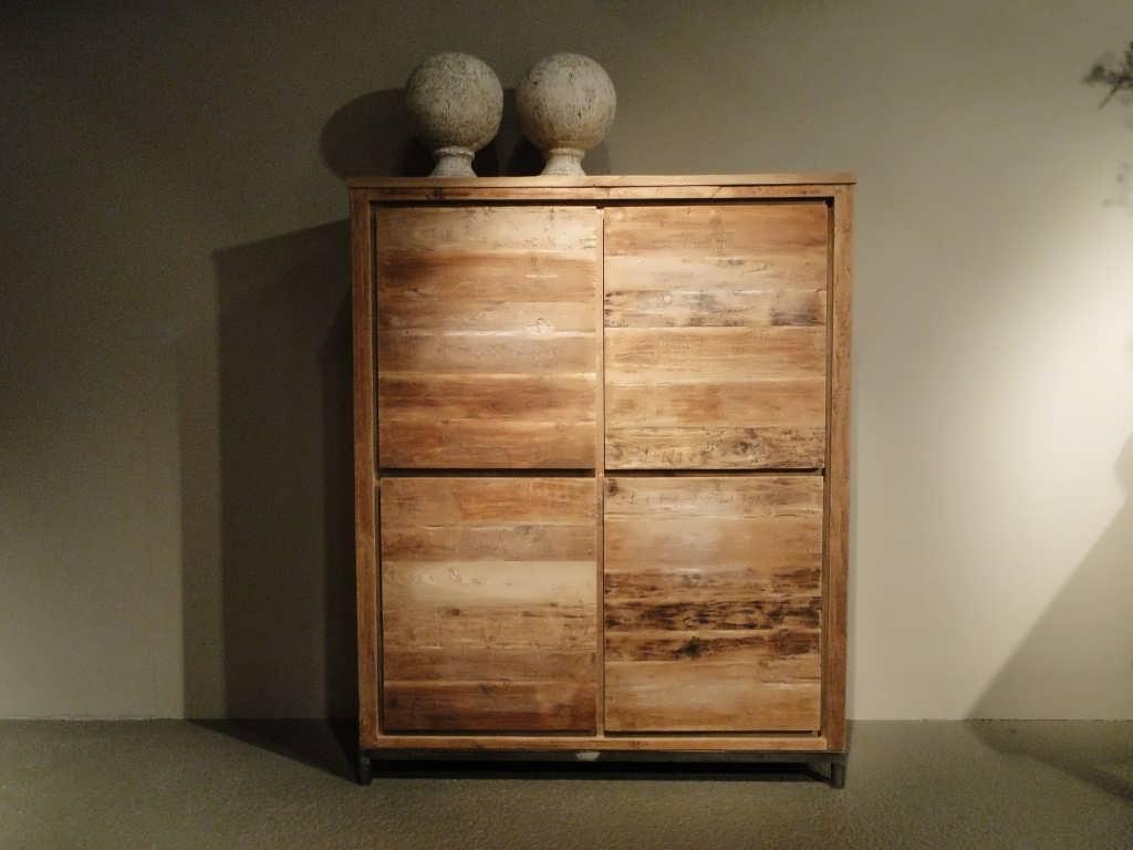 teak houten opbergkast avezzano
