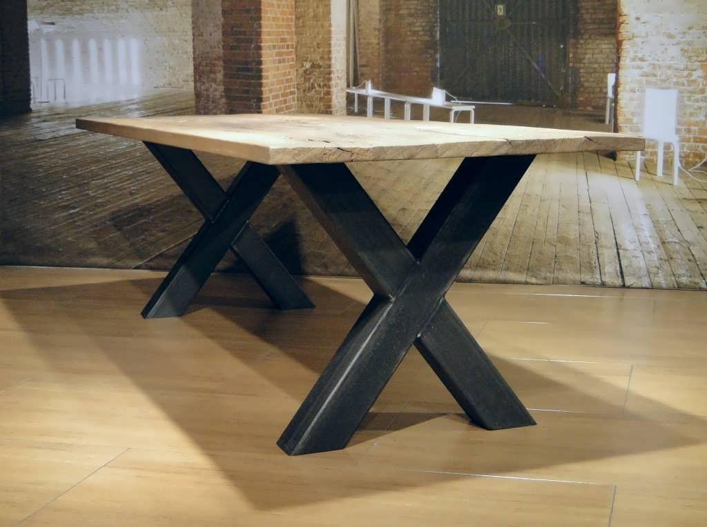 eiken kruispoot tafel