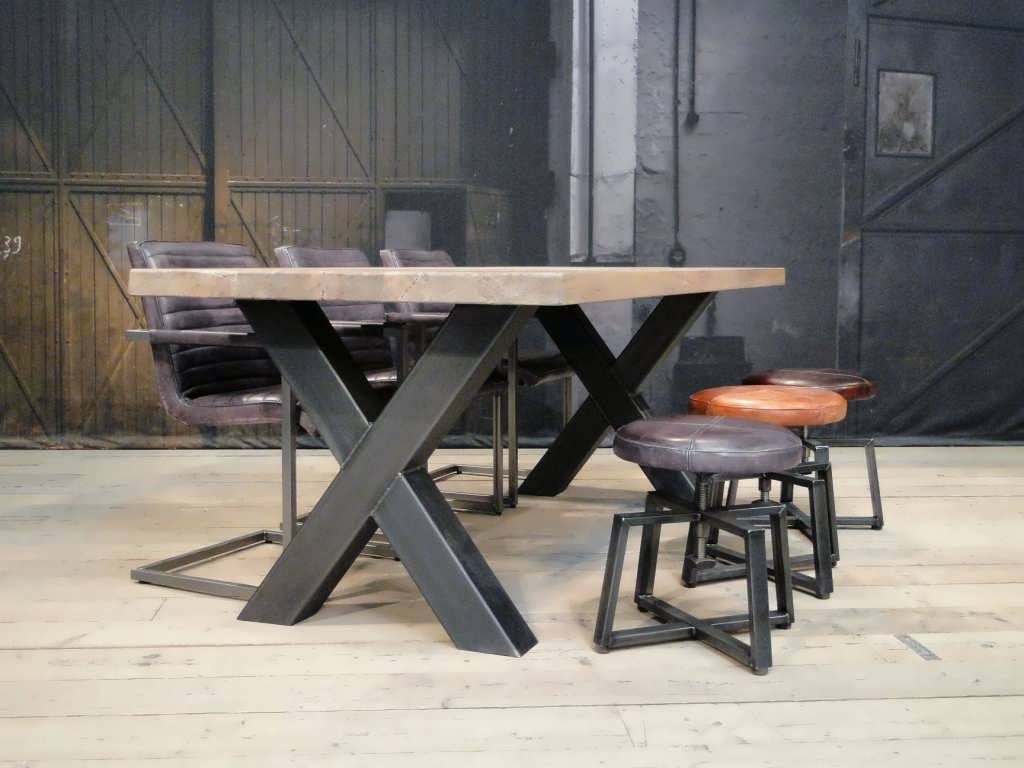 industriele kruispoot tafel
