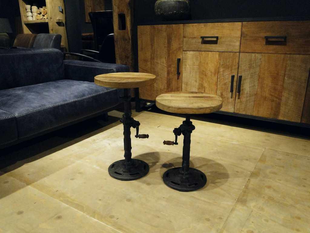 houten piano kruk