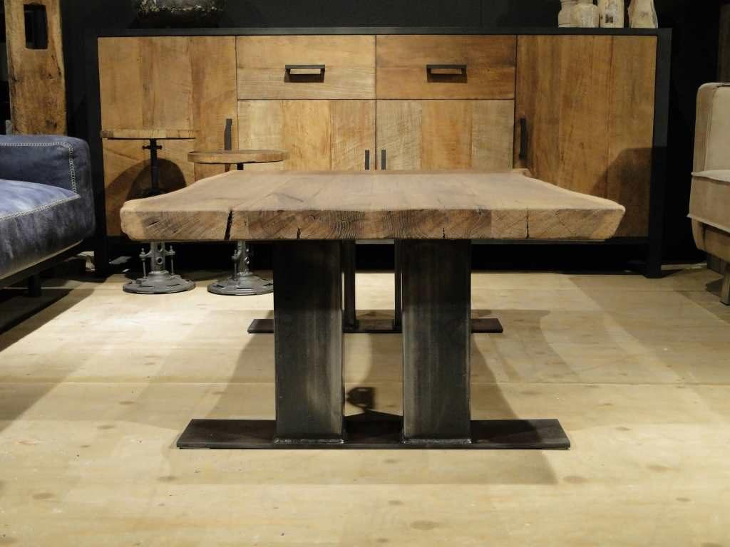 industriele grote salontafel