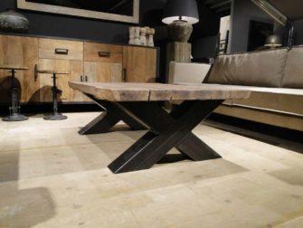 salontafel boomstamblad
