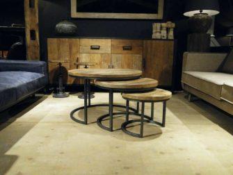 salontafel rond set van 3