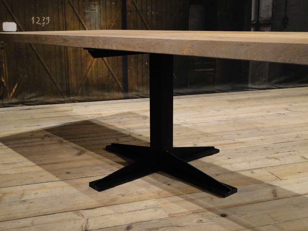 Wit Eiken Tafel : Eettafel voor eetkamerbankje villefranche maatwerk robuustetafels