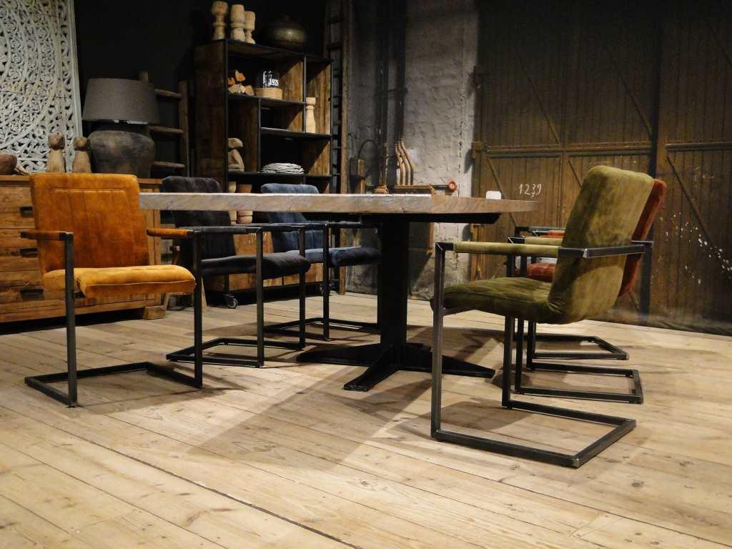 Hedendaags Villefranche eettafel maatwerk van dikke balken | RobuusteTafels.nl XG-84