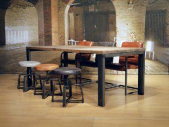 industriele eiken tafel barolo