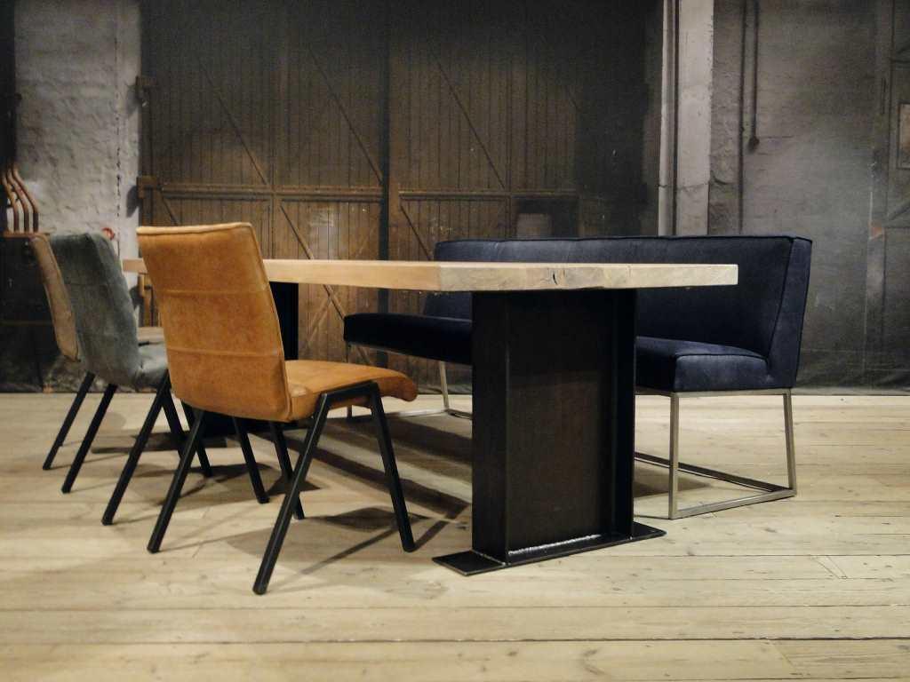 Wit Eiken Tafel : Industriele eettafel magnus massief eiken robuustetafels