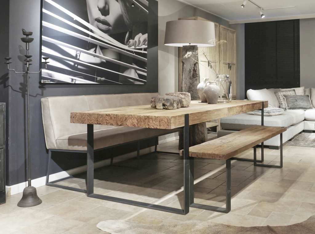 Teak Tafels Haarlem : Industriele teak tafel ferro van recycled teak robuustetafels