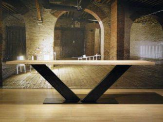 industriele eiken v poot tafel