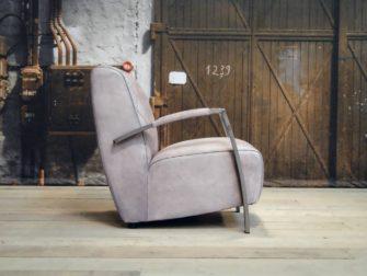 leren Fauteuil Edmund - vintage grey