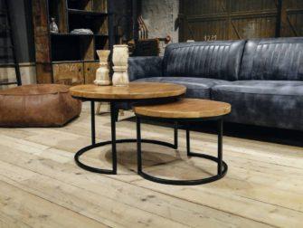 ronde salontafel monterado