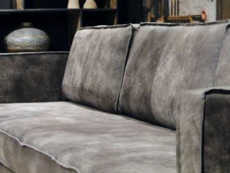 grote grijze 5 zits bank leer