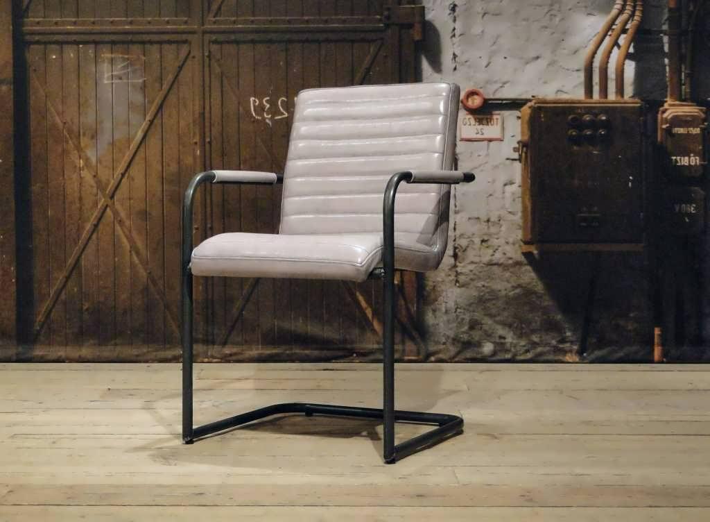 Eetkamerstoel cenon horizontal - vintage grey