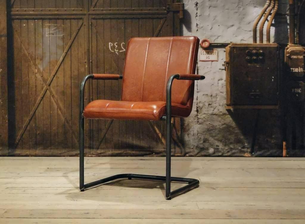 Cognac Leren Stoel : Leren stoel cenon vertical in 6 kleuren robuustetafels.nl