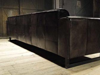 grijs leren bank