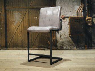 leren barkruk vienne 65cm vertical - vintage grey