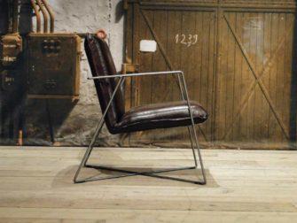 leren design fauteuil santino bruin