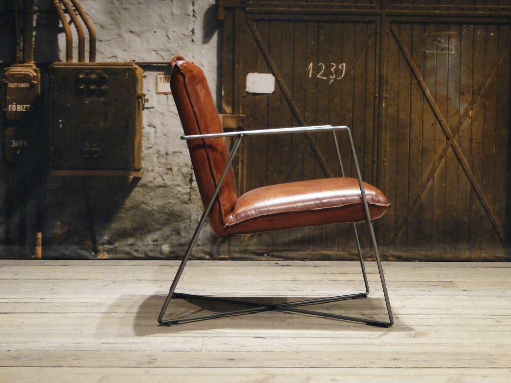 leren design fauteuil santino cognac