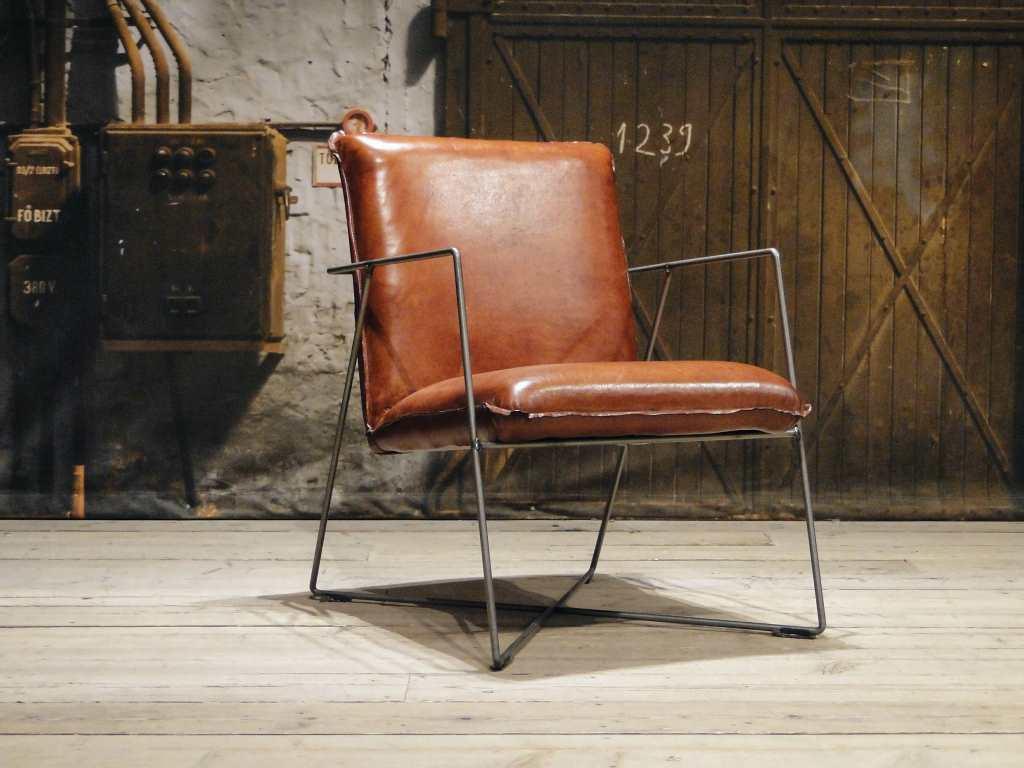 Leren design fauteuil santino in ruim 40 kleuren robuustetafels.nl