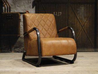 Leren fauteuil Pesara