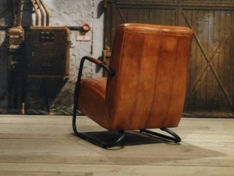 Fauteuil Cambrai vertical - buffel leer cognac