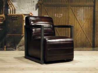 robuuste leren fauteuil hodor bruin