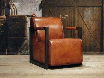 Fauteuil Hodor straight - cognac