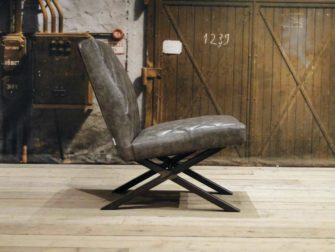 leren fauteuil Muret - grey